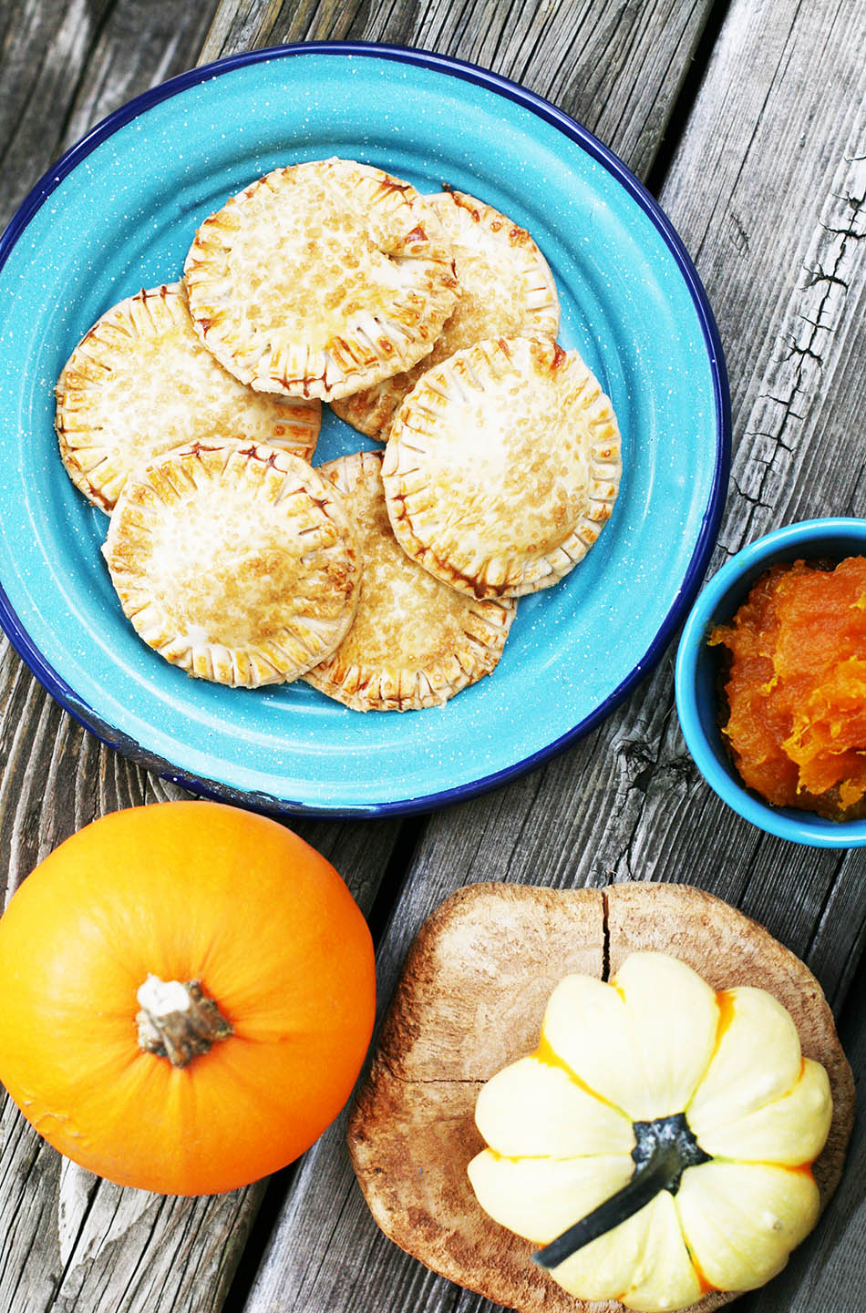 Pumpkin hand pies: These small pies are portable and easy to make!